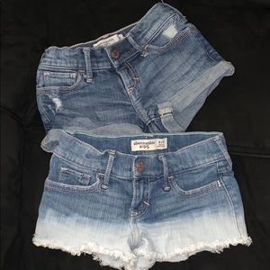 Abercrombie kids size 3/4 youth jean shorts